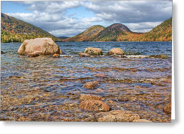 Jordan Hill Greeting Cards - The Bubbles #2 - Jordan Pond - Acadia National Park Greeting Card by Nikolyn McDonald
