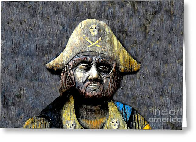 The Buccaneer Greeting Card by David Lee Thompson