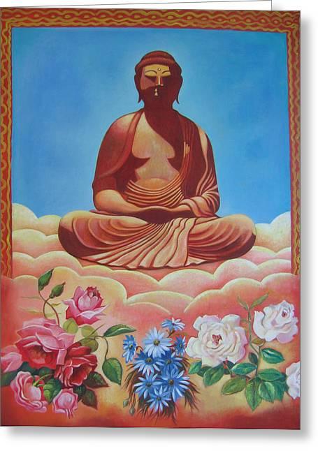 The Budha Greeting Card by Hiske Tas Bain