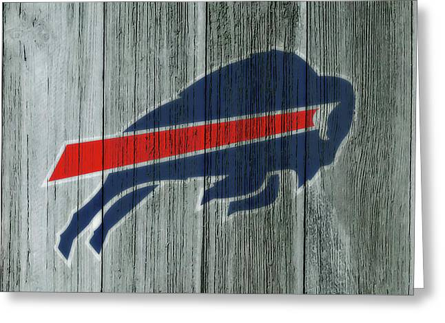 The Buffalo Bills C2 Greeting Card by Brian Reaves