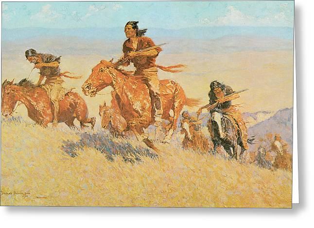 The Buffalo Runners Big Horn Basin Greeting Card