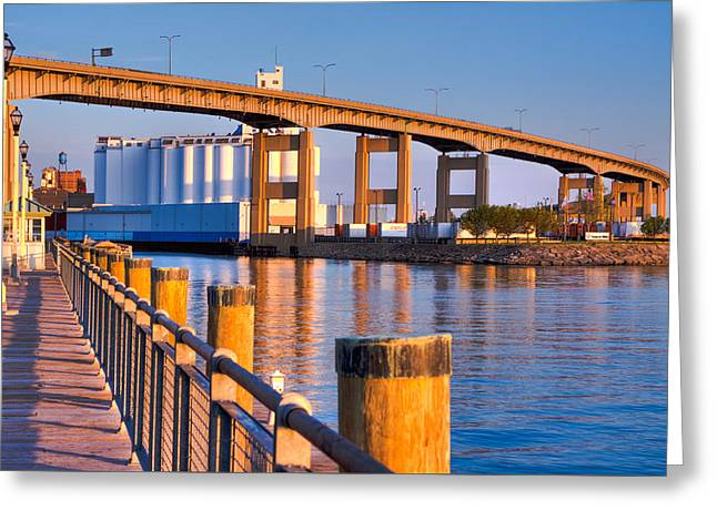Greeting Card featuring the photograph The Buffalo Skyway by Don Nieman