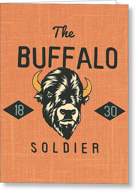 Buffalo Soldier V1 Greeting Card by Brandi Fitzgerald