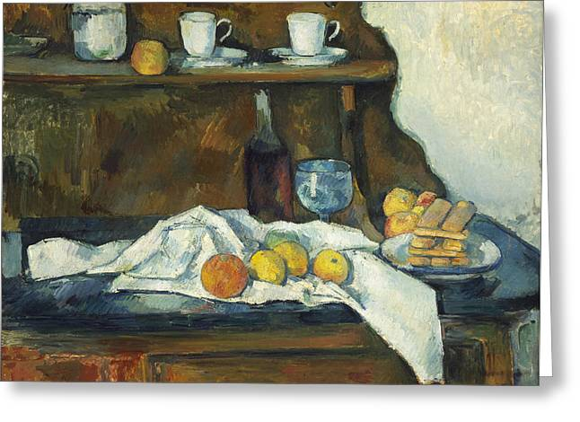 The Buffet 1877 Greeting Card by Paul Cezanne