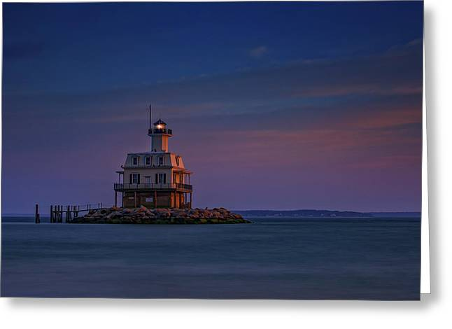 The Bug Light At Dusk Greeting Card by Rick Berk