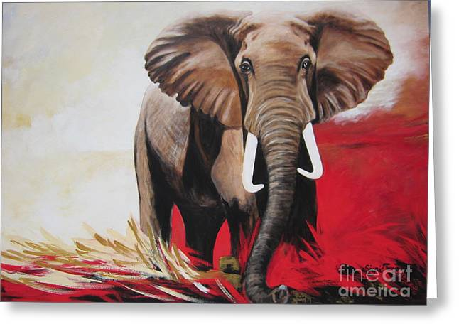 Bumper The  Bull Elephant  Greeting Card