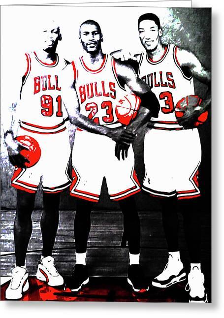 The Bulls Big Three Greeting Card