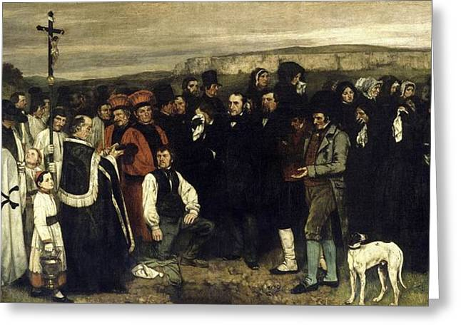 The Burial At Courbet, 1849 -1850 Greeting Card by Celestial Images
