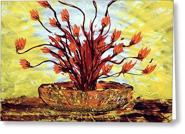The Burning Bush Greeting Card by J R Seymour