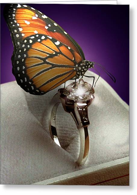 The Butterfly And The Engagement Ring Greeting Card by Yuri Lev
