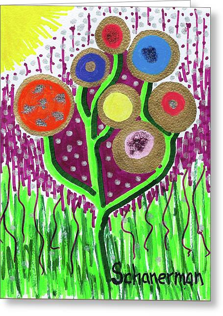 The Button Ball Tree Greeting Card