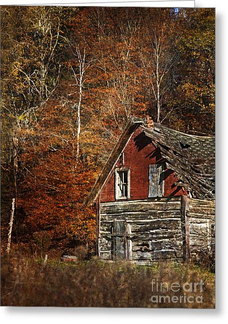 The Cabin In The Woods.. Greeting Card by Nina Stavlund