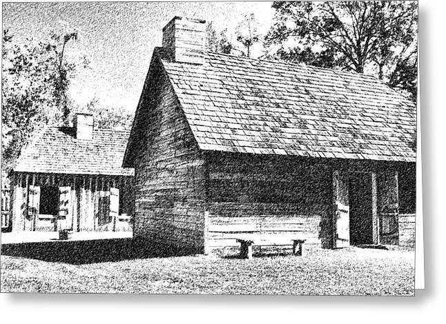 Greeting Card featuring the photograph The Cabin by Ken Frischkorn