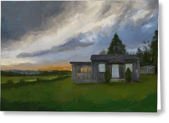 The Cabin On The Hill Greeting Card