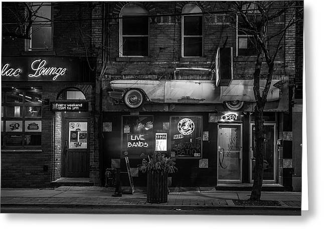 The Cadillac Lounge Greeting Card by Unsplash