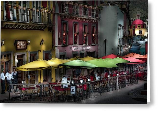 The Cafe At Night Greeting Card