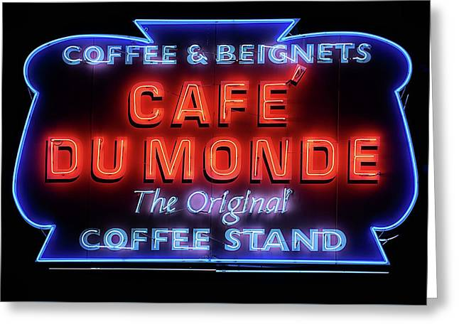 The Cafe Du Monde Greeting Card by JC Findley