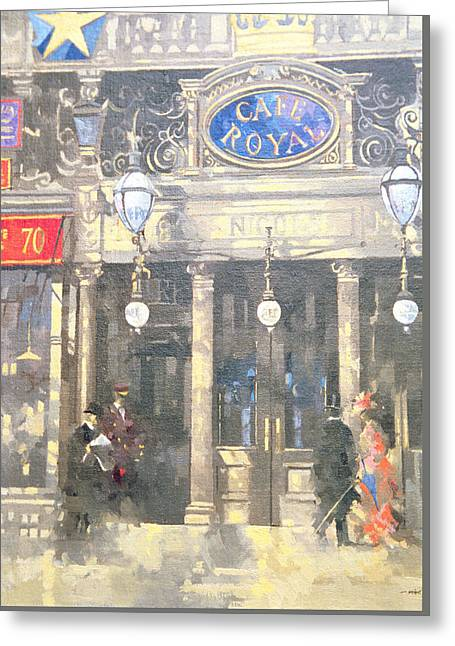 The Cafe Royal Greeting Card by Peter Miller