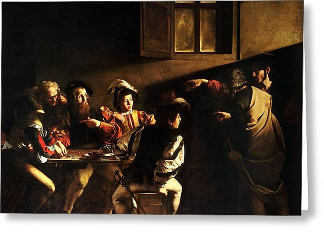 The Calling Of St Matthew Greeting Card by HQ Art