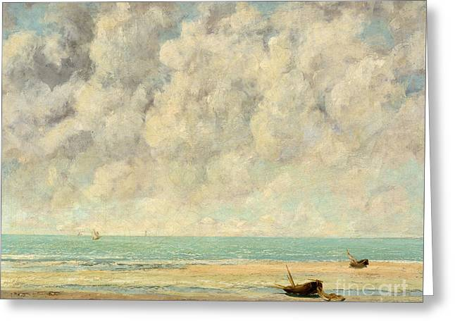 The Calm Sea, 1869  Greeting Card by Gustave Courbet