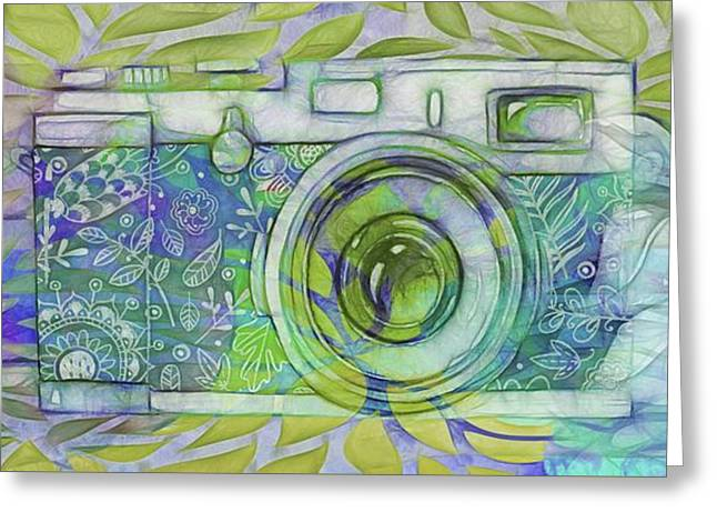 Greeting Card featuring the digital art The Camera - 02c5b by Variance Collections