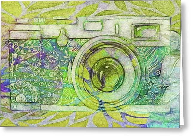 Greeting Card featuring the digital art The Camera - 02c5bt by Variance Collections