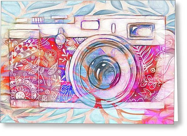 The Camera - 02c8v2 Greeting Card by Variance Collections