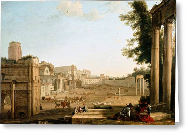 The Campo Vaccino, Rome Greeting Card by Claude Lorrain