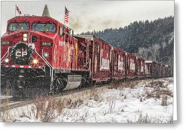 Greeting Card featuring the photograph The Canadian Pacific Holiday Train by Brad Allen Fine Art