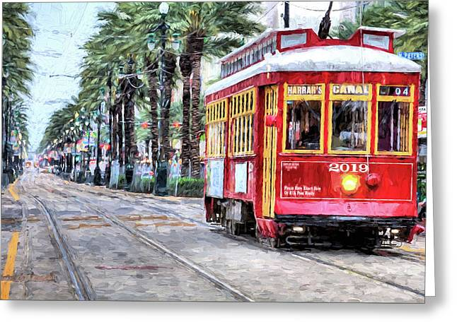 The Canal Street Streetcar Greeting Card