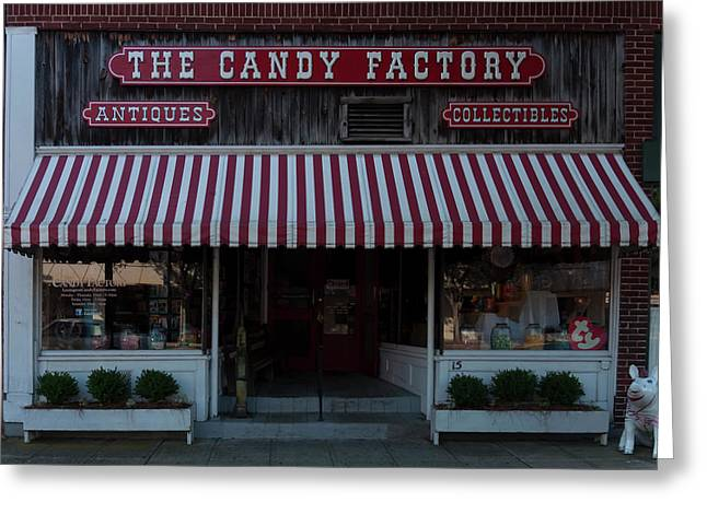 Greeting Card featuring the photograph The Candy Factory by Chris Flees