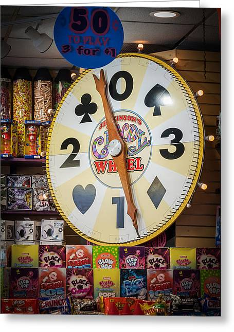 The Candy Wheel Point Pleasant Boardwalk Greeting Card