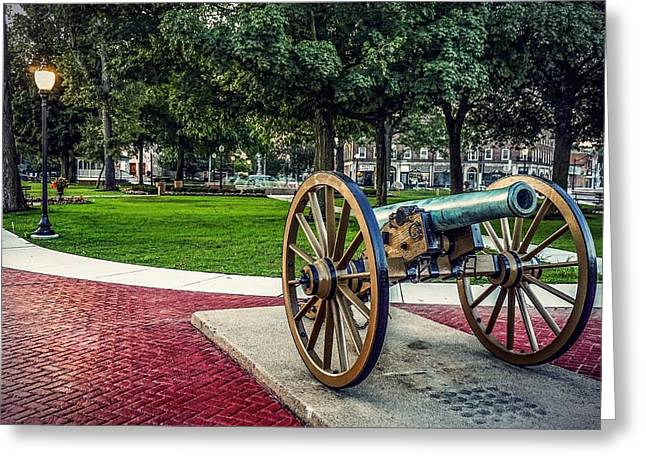 The Cannon In The Park Greeting Card