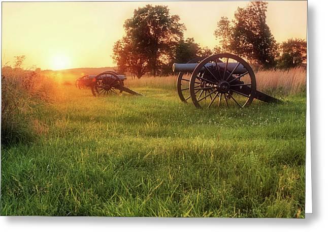 The Cannons Of Pea Ridge - Arkansas - Civil War Greeting Card by Jason Politte