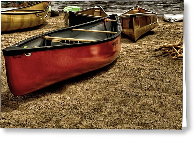 The Canoes Greeting Card by David Patterson