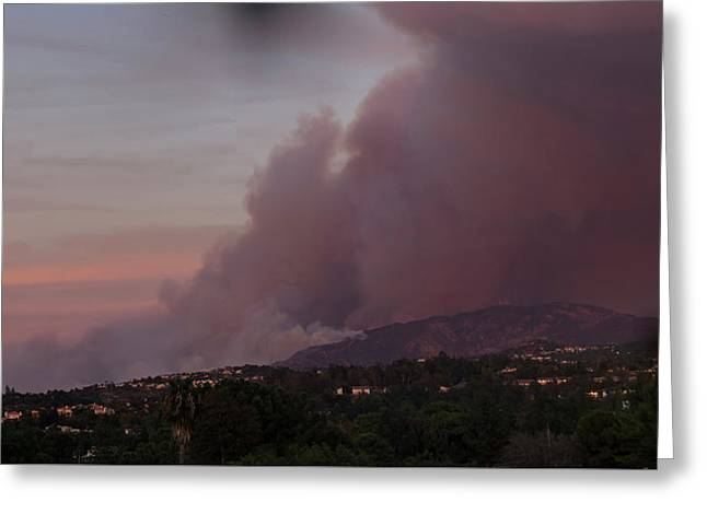 The Canyon Fire Greeting Card by Angela A Stanton