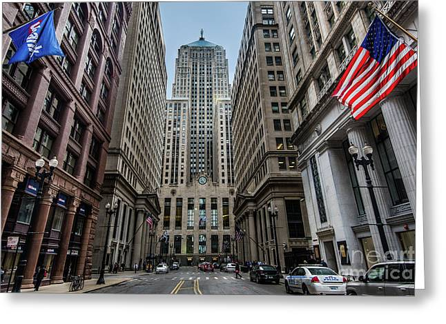 The Canyon In The Financial District Greeting Card