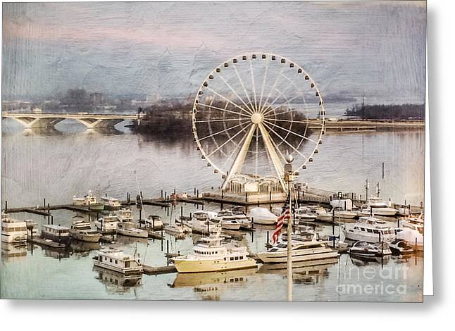 The Capital Wheel At National Harbor Greeting Card