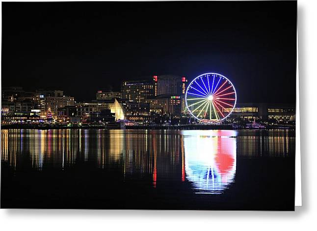 The Capital Wheel Over The Potomac Greeting Card