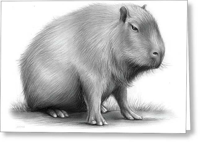 The Capybara Greeting Card