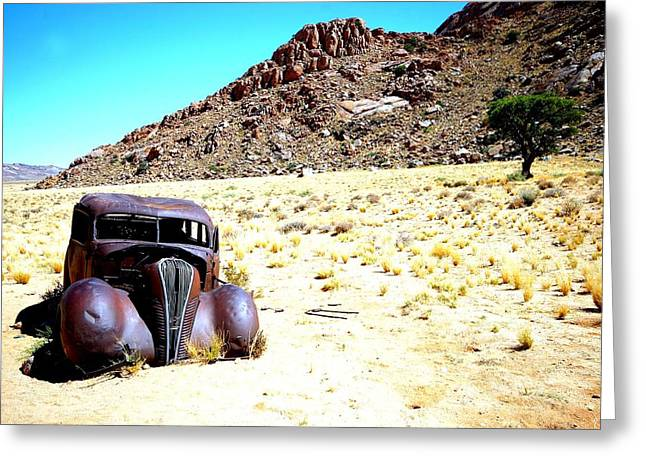 Greeting Card featuring the photograph The Car by Riana Van Staden