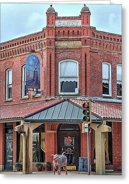 The Carey Building Greeting Card by JC Findley