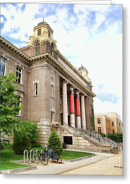 The Carnegie Library Greeting Card by Debra Millet