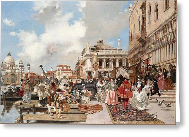 The Carnival. Venice Greeting Card