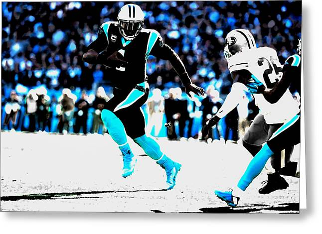 The Carolina Panthers 06a Greeting Card by Brian Reaves