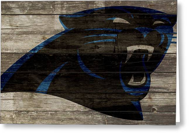 The Carolina Panthers 2w Greeting Card by Brian Reaves