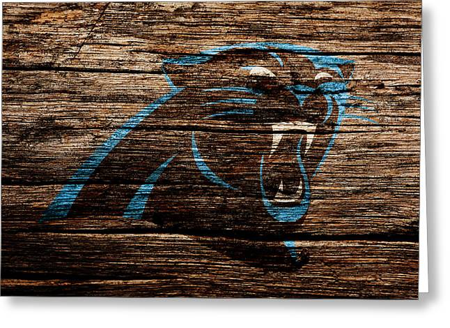 The Carolina Panthers 4a Greeting Card by Brian Reaves