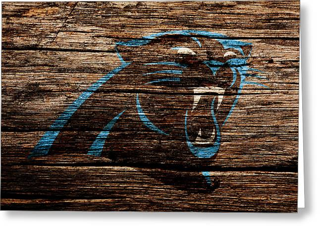 The Carolina Panthers 4b Greeting Card by Brian Reaves
