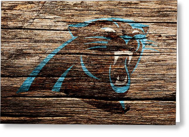 The Carolina Panthers 4c Greeting Card by Brian Reaves