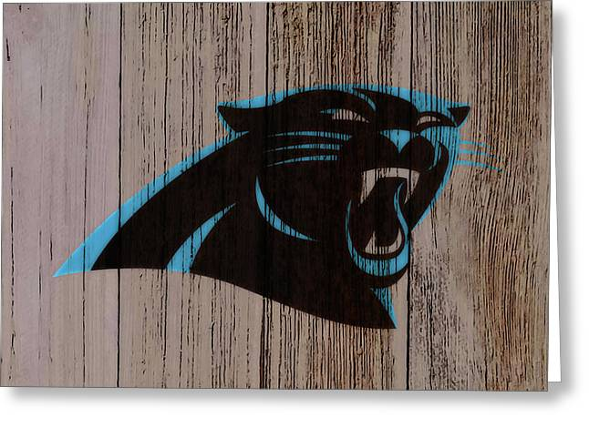 The Carolina Panthers C2 Greeting Card by Brian Reaves